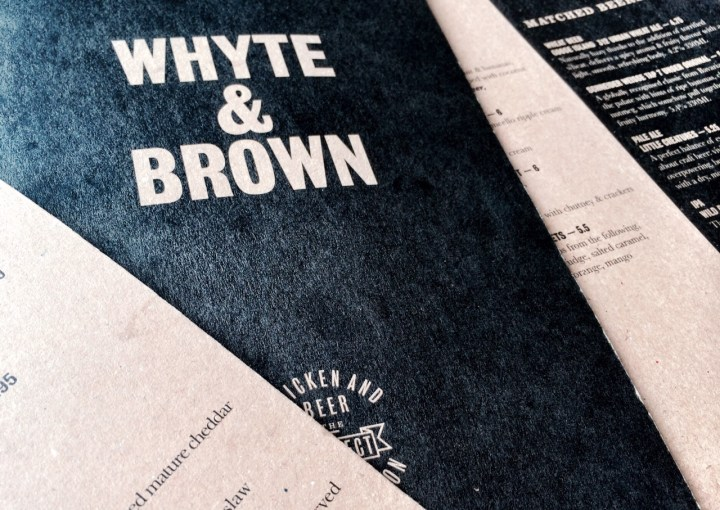 Whyte &  Brown - restaurant Soho Londen