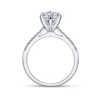 Coast Diamond solitaire engagement ring LC5386 side view