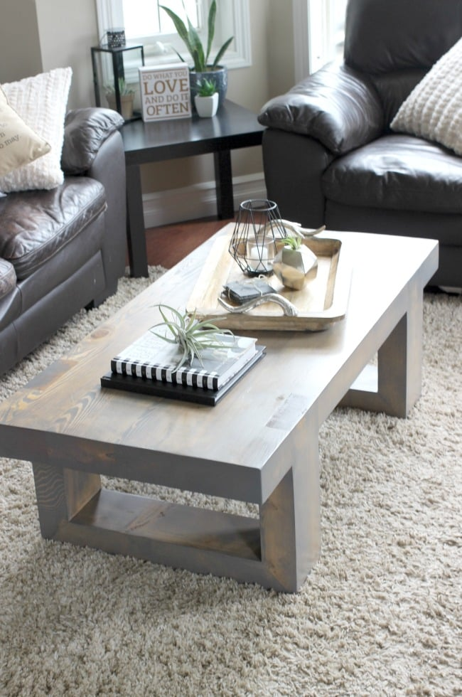 Modern Coffee Table Build Plans - Love Create Celebrate on Coffee Table Plans  id=40006