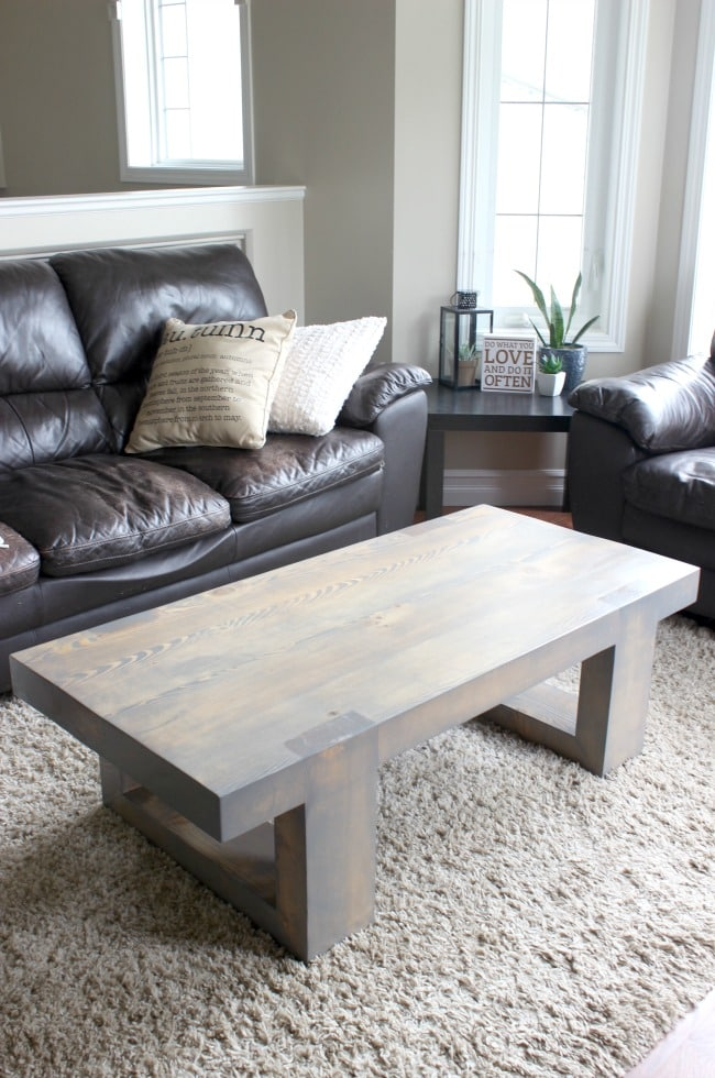 Modern Coffee Table Build Plans - Love Create Celebrate on Coffee Table Plans  id=28744
