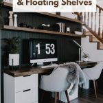 40 Diy Wood Desktop Matching Floating Shelves Love Create Celebrate