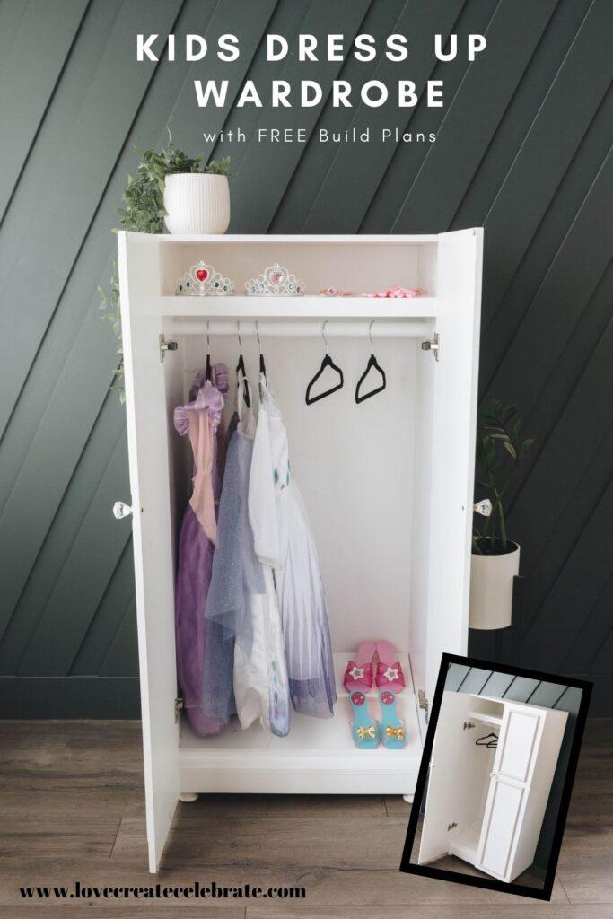 kids dress up wardrobe love create