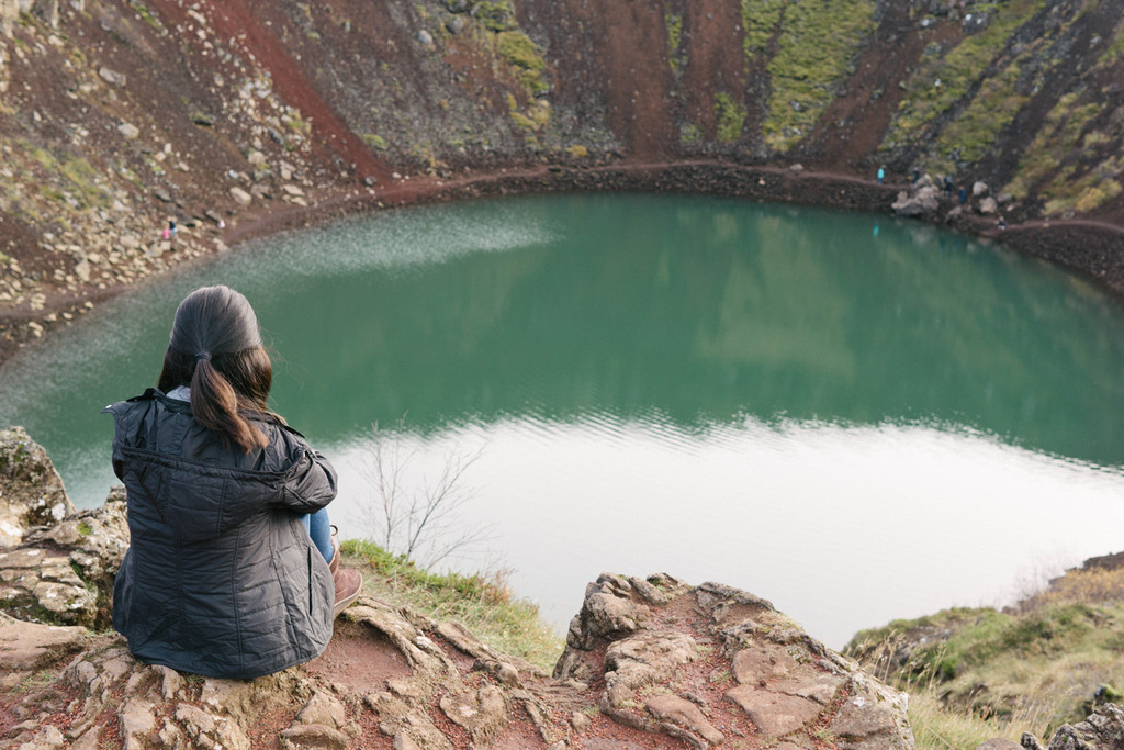 iceland ring road kerid crater lake