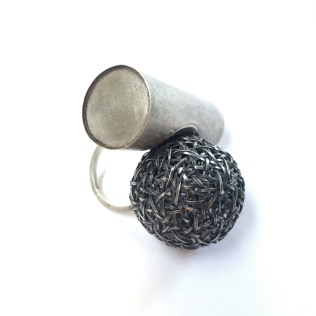 Early 90's: Elizabeth Callinicos. Ring - silver, oxidised silver