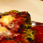 Rolled up spinach and ricotta aubergine bake