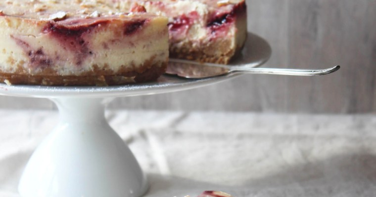 Cherry Bakewell Cheesecake
