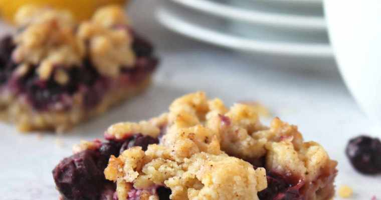 Mixed berry oat bars
