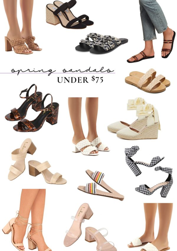 affordable spring sandals collage