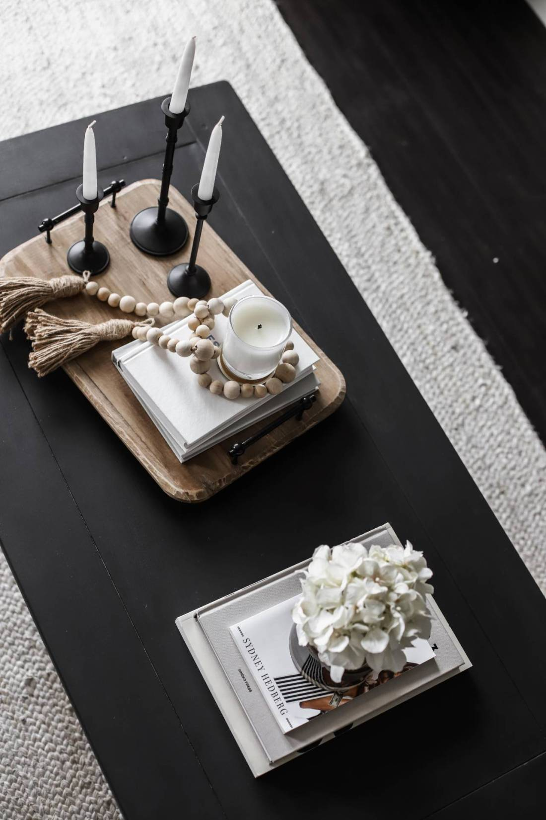 modern farmhouse neutral coffee table