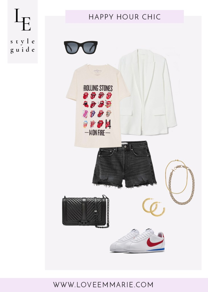 happy hour chic graphic tee outfit