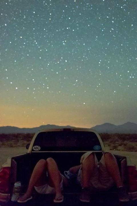 have fun together watching stars under the open sky