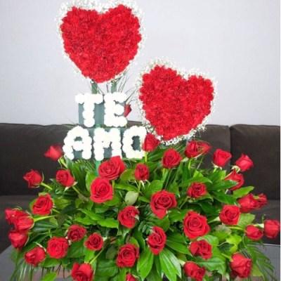 "Flower Arrangement ""TE AMO""and 36 Roses"