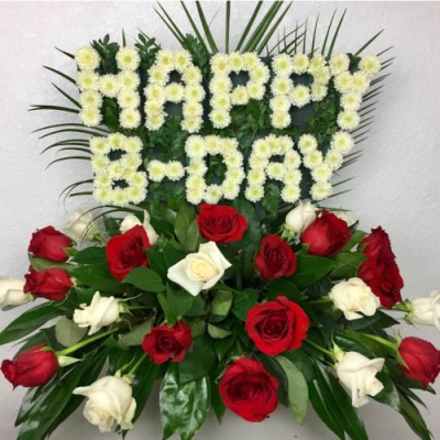 """Happy B-day"" Flower Arrangement"