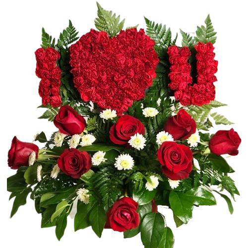I LOVE YOU love flowers
