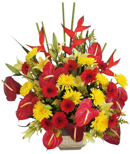 Tropical Basket Funeral Flower
