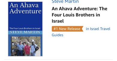 "FREE KINDLE DOWNLOAD FOR 5 DAYS – ""An Ahava Adventure – The Four Louis Brothers in Israel"" – #1 on Amazon's New Release for ""Israel Travel Guides"""
