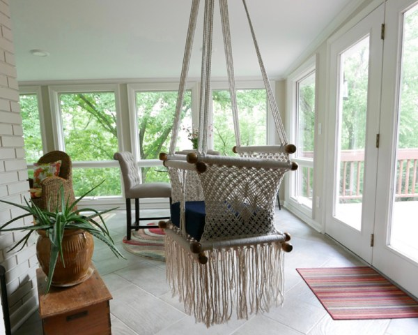Macrame Baby Swing Natural White Made in Nicaragua