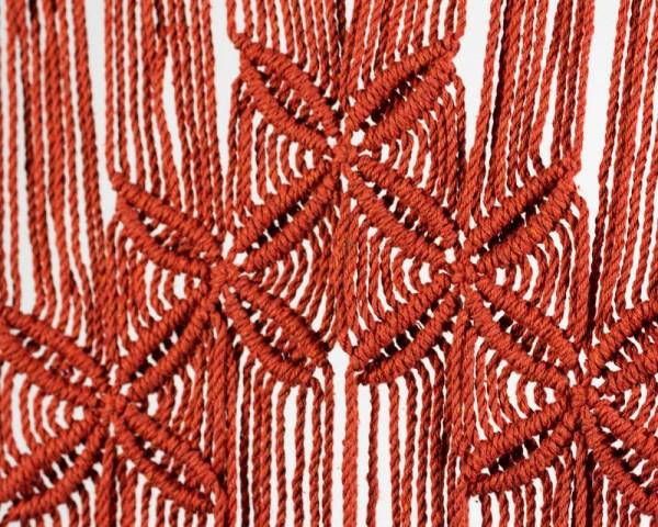 Rivas Macrame Wall Hang Tile Red Made in Nicaragua