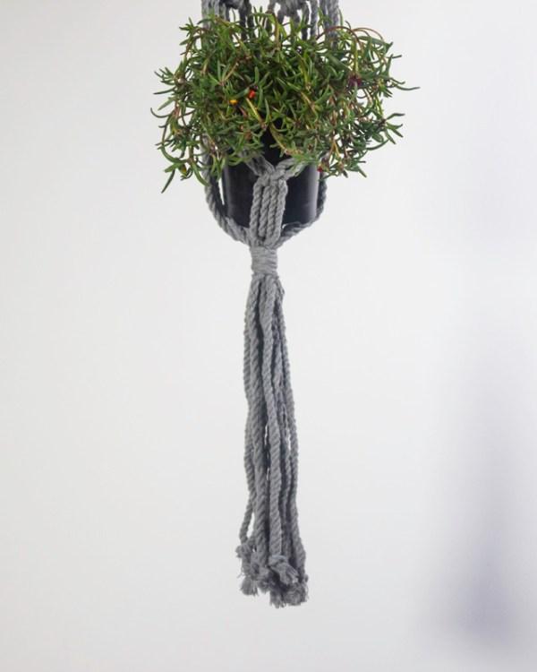 Somoto Macrame Plant Holder Gray Made in Nicaragua