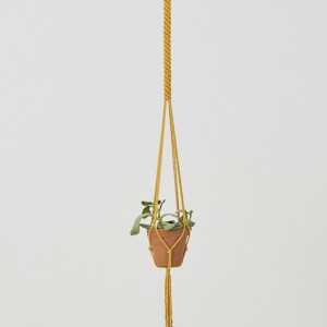 Bluefields Macrame Plant Holder Yellow Made in Nicaragua