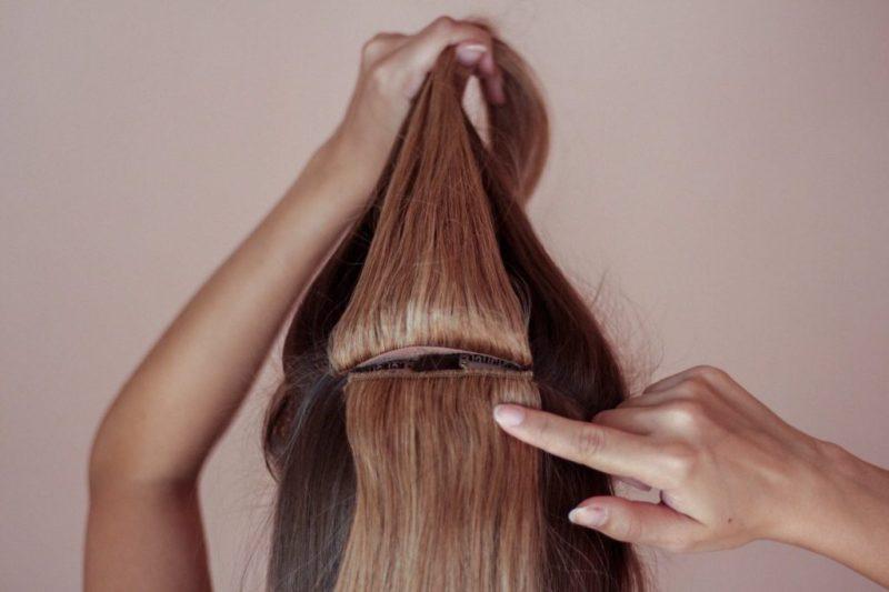 Clip ins Haarextensions Echthaar