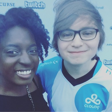 Sneaky stayed behind to sign things and take selfies!