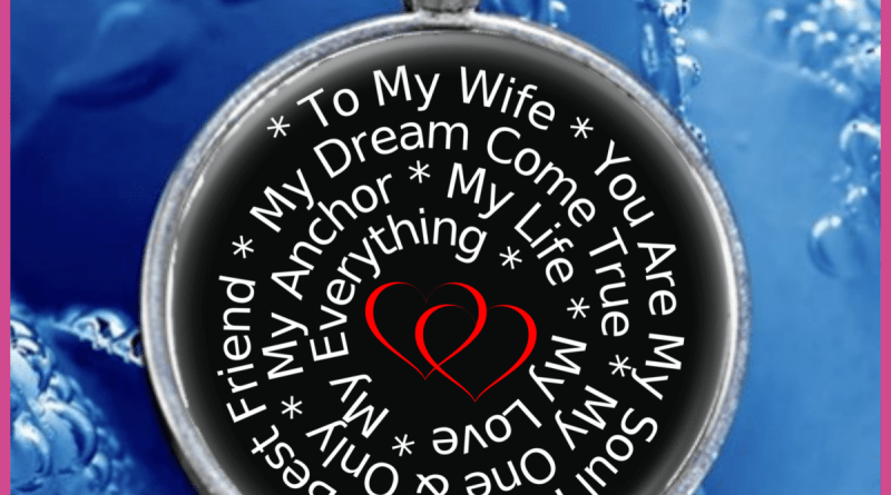 love my wife necklace silver