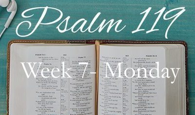 Week 7 – A Life of Prayer