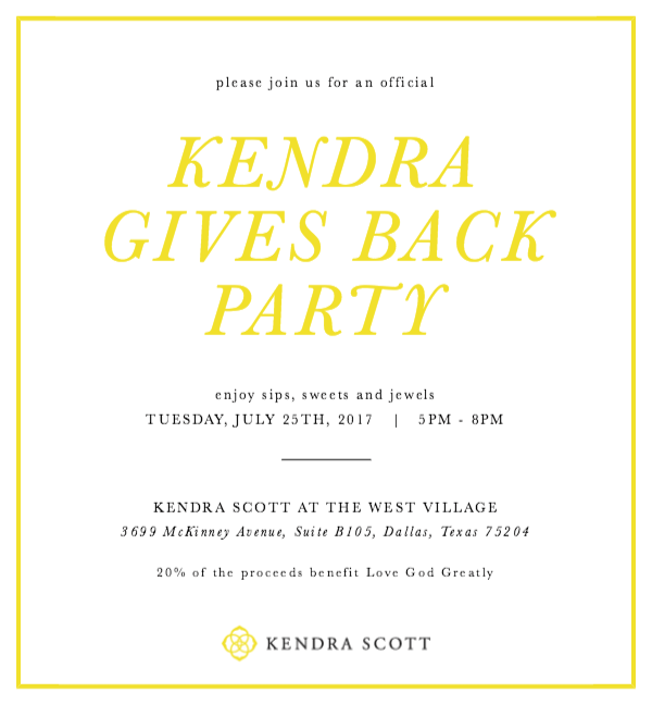 Shop Kendra Scott & Help Love God Greatly