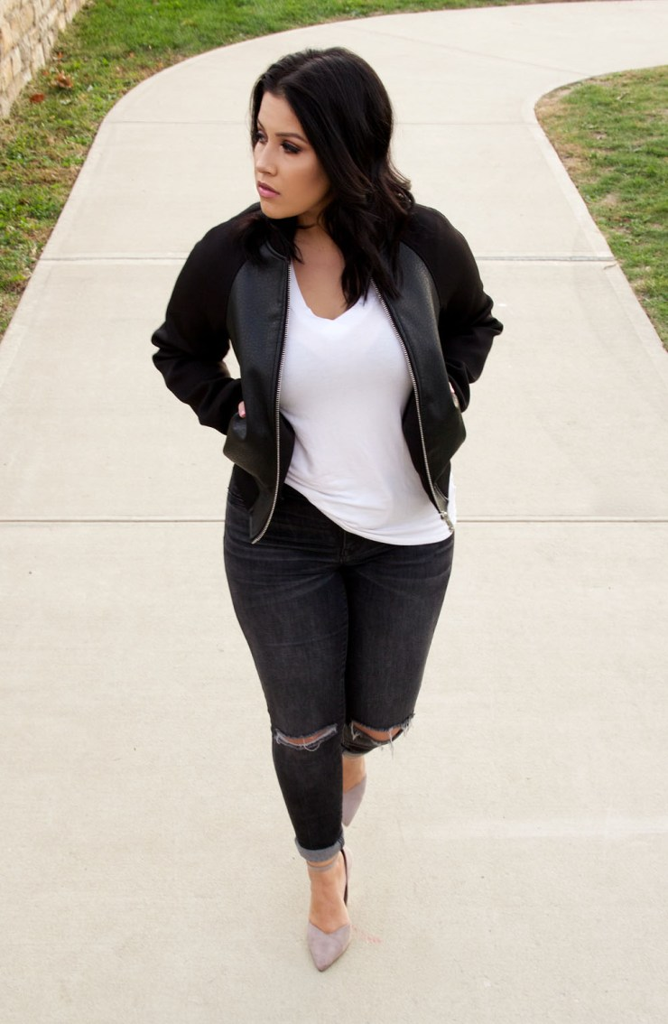 Faux Leather Bomber Jacket Forever 21