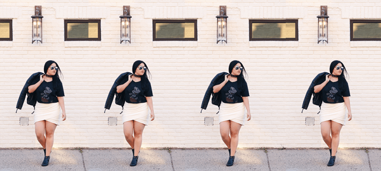 T-Shirt & Mini Skirt | OOTD