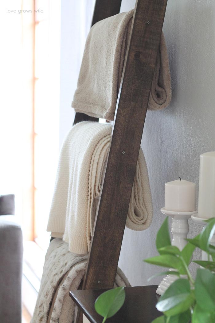 diy blanket ladder love grows wild