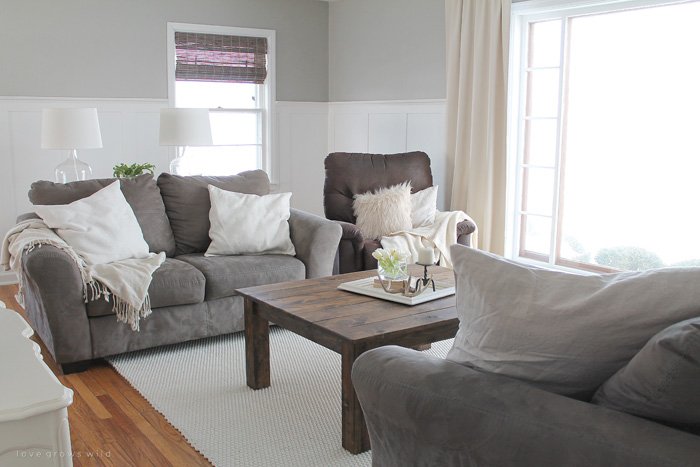 The Beginning of our Farmhouse Living Room - Love Grows Wild on Curtains For Farmhouse Living Room  id=40480