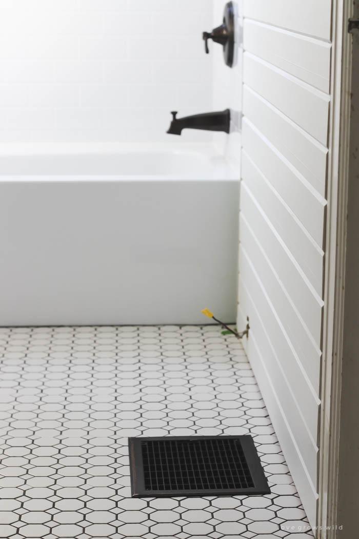 Bathroom Makeover Week 3: Tile - Love Grows Wild on Farmhouse Tile Bathroom Floor  id=54055