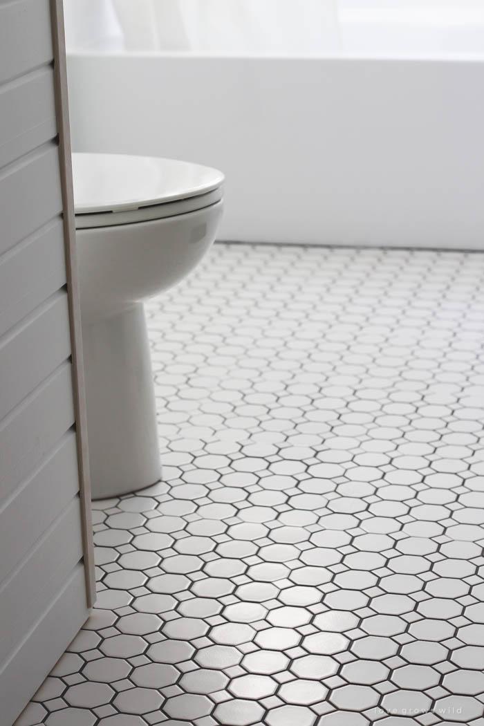 Bathroom Makeover Week 3: Tile - Love Grows Wild on Farmhouse Tile Bathroom Floor  id=57177