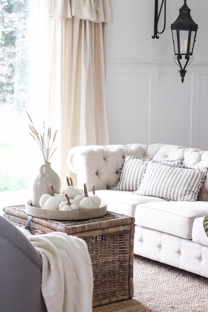 Simple Farmhouse Fall Living Room - Love Grows Wild on Curtains For Farmhouse Living Room  id=17195