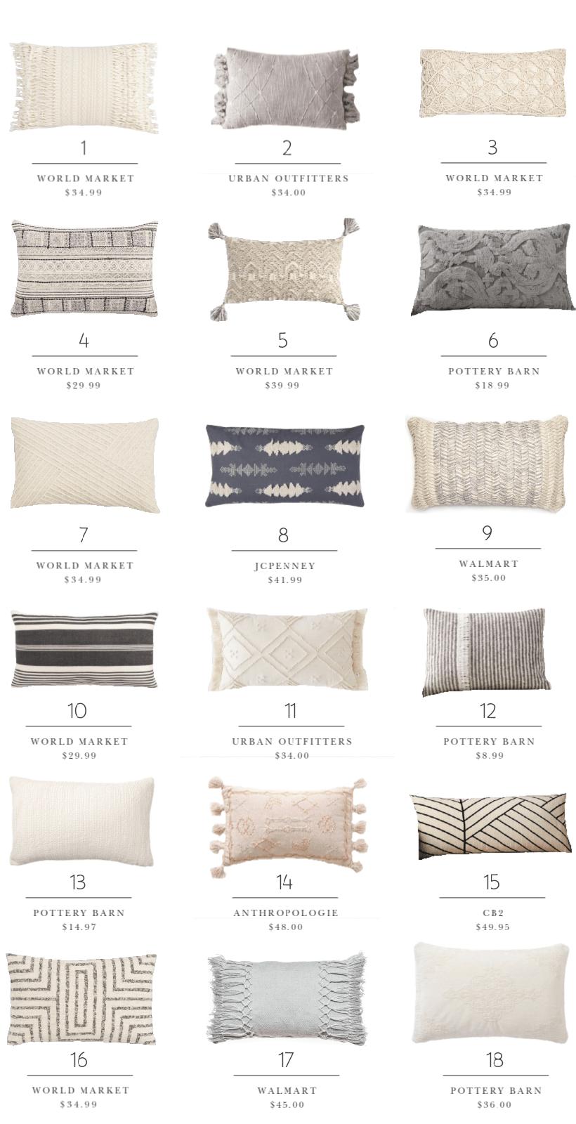 decorating essentials lumbar pillows