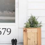 Tall Outdoor Cedar Planter Love Grows Wild