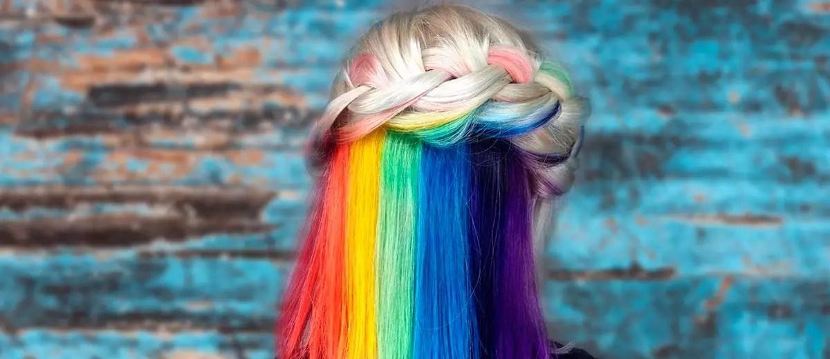 Mesmerizing Hidden Rainbow Hair