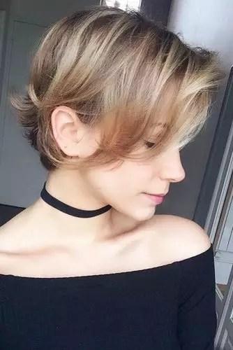 Long Pixie For Thin Hair #shorthaircuts #shorthairstyles #shorthair #pixiehaircuts #blondehighlights