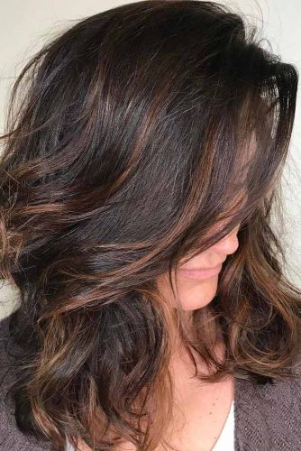 Middle Part Hairstyles Wavy Hair No Bangs