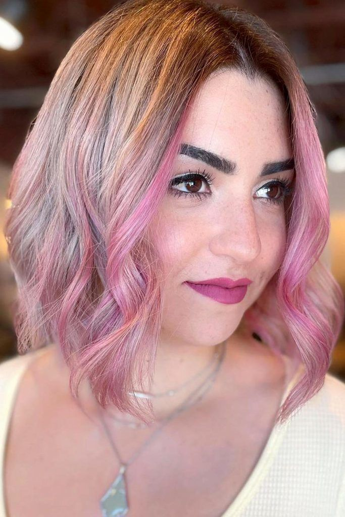 Mid Parted Stacked Bob