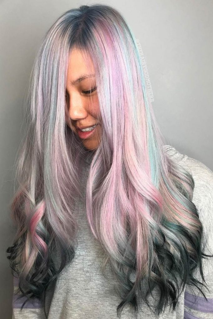 Pastel Shades with Silver Hair for E-girl