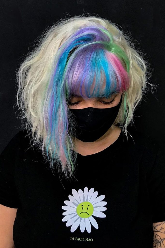 E-Girl Hair With Colored Bangs