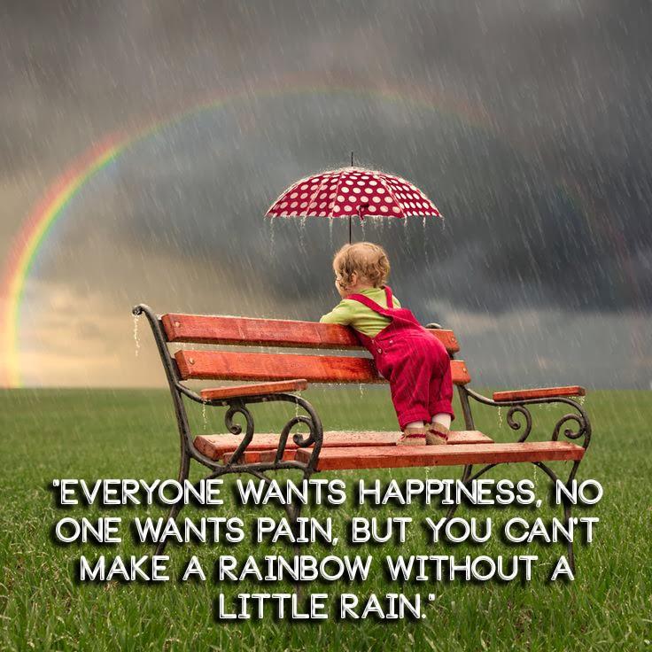 Rainbows & Walking in the Rain