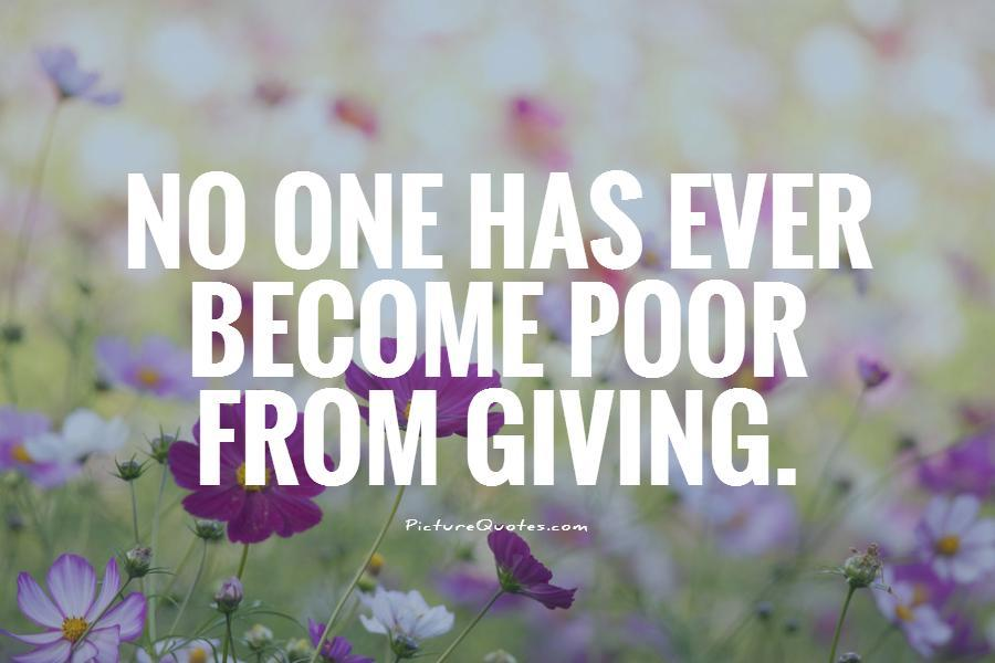 Giving and why it makes us feel good