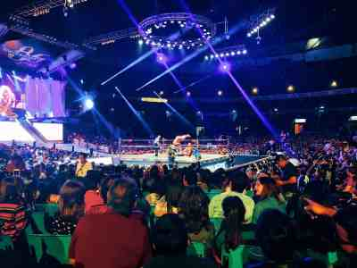 Lucha Libre wrestling match at Arena Mexico, one of the top things to do in Mexico City
