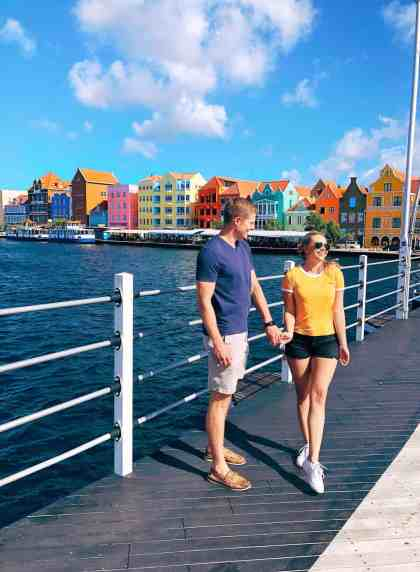 Queen Emma Floating bridge in colorful Willemstad, one of the top things to do in Curacao