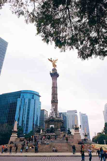 See the iconic symbol of Mexico City, angel de indepencia, one of the top things to do in Mexico City