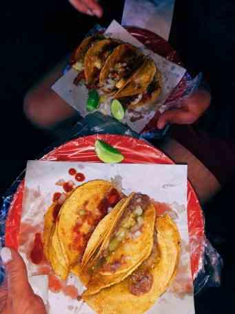 Street tacos at Ricos Tacos